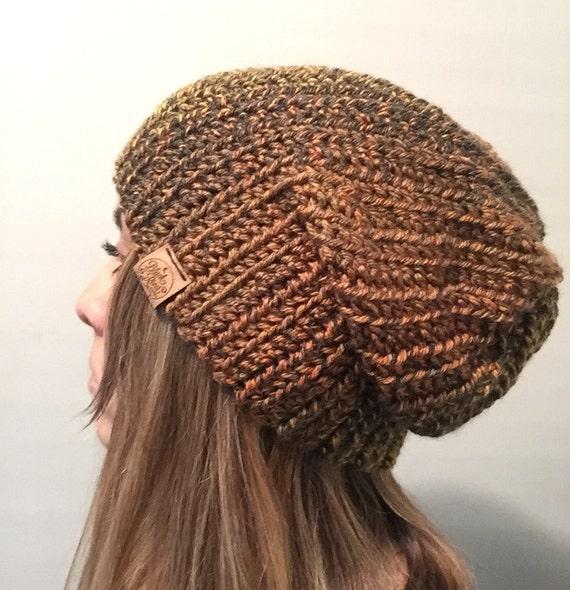 Mens beanie // womens beanie // slouchy beanie hat // mens womens hat // brimmed beanie // slouch beanie