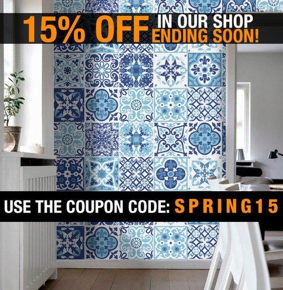 Portoghese piastrelle scala azulejos adesivi di parete piastrelle cucina 48 adesivi - Adesivi per piastrelle cucina ...
