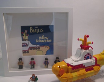 Picture of the Beatles LEGO minifigures