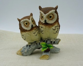 Owl By Andrea // Collectible Owl figurine // Woodland Home Decor // Sadek Japan // Andrea 6307 // Vintage Home Decor