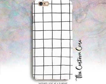 White Grid Phone Phone Case, Minimal Phone Case, Hand Drawn Grid Case, Trending Grid Phone Case, Geometric Grid Phone Case, Grid, Cool Grid