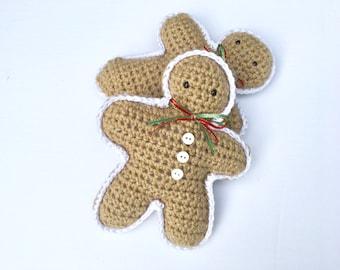 Free Crochet Pattern For Gingerbread Man : Crochet gingerbread Etsy
