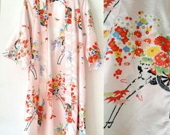 Gorgeous 70's Japanese Ichi Ban Kimono Robe Made in Japan
