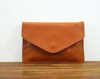 """Leather handbag """"Mila"""" in brown, clutch, leather bag, shoulder bag, genuine leather"""