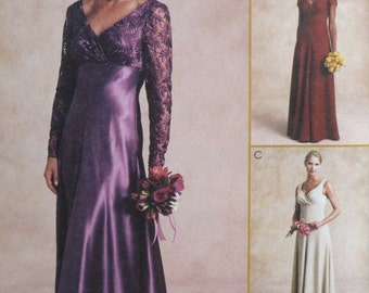 Elegant Evening Gown Pattern - Sizes 6-8-10 - McCalls 2602 - UNCUT Womens Dress Pattern