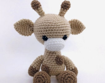 PATTERN: Crochet giraffe pattern - amigurumi giraffe pattern - crocheted giraffe pattern - giraffe toy tutorial - PDF crochet pattern
