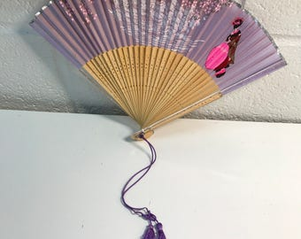 Painted Hand Fan Decor