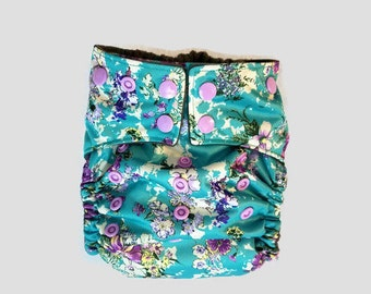 Summer Floral- One Size Cloth Diaper- Pocket Diaper- Ai2- AIO- Floral Cloth Diaper- Photo Prop- Girly Cloth diaper- Diaper cover- cloth wipe