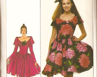 """Simplicity 8715 Misses' 80's Prom Dress - Retro Prom - Size 14 Bust 36"""""""