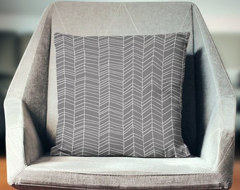 Gray Pillow | Gray Pillow Case | Gray Throw Pillow | Gray Pillow Cover | Gray Cushion | Gray Décor | Gray Pillowcase