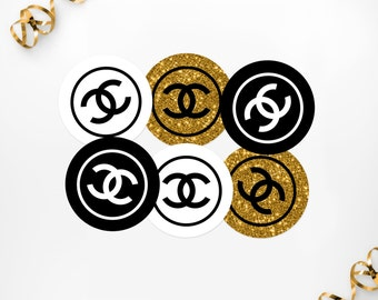 Chanel etsy studio for Authentic chanel logo t shirt