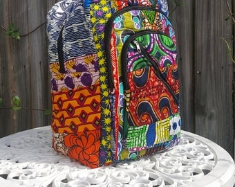 African Patchwork Backpack