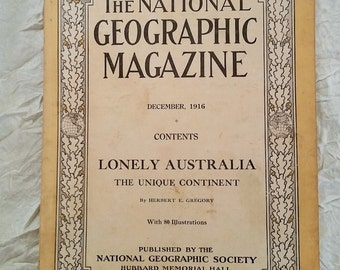 National Geographic Magazine 1916 - Lonely Australia, The Unique Continent