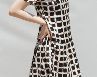 Marni inspired modernist abstract dress