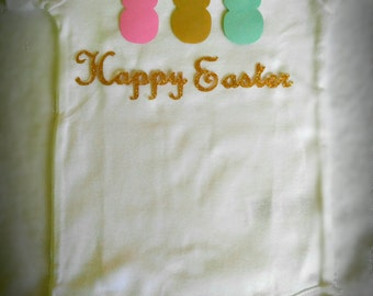 Pink-Gold-Mint Easter Onesie, Easter Outfit, Personalized onesie, Kids Clothing