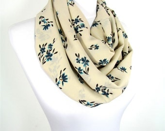 Floral Scarf Infinity Scarf Circle Scaf Loop Spring Fall Winter Fashion Christmas Gift For Her For Women Mothers Day Gift For Mom Fatoz