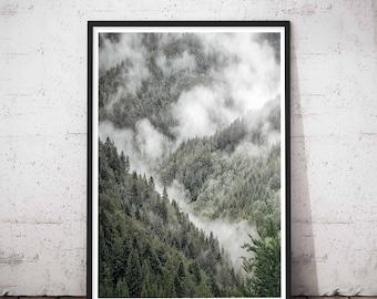 Modern Scandinavian Print, Landscape Photo Scandinavian Decor, Nordic Art Design, Scandi Wall Art Decor, Printable Large Landscape Poster
