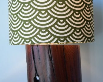 Ironbark wood lamp base handmade from reclaimed timber for table, desk or bedside