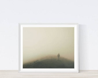 Foggy Photography, Fog, Foggy Landscape, Minimalist Print, Instant Download, Printable Art, Fog Overlays, Mist Overlays, Misty print,