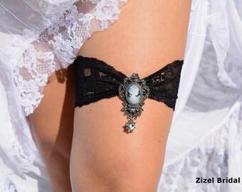 Wedding Garter, Wedding Garters, Lace Garter, Bridal Garter, Victorian Garter, Black Bridal Garter, Garter Black, Black Garter Set, Bridal