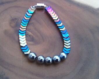 Men Multi-Iris Hematite Bracelet