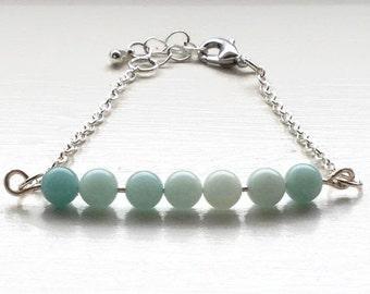 Amazonite Fidget Bracelet, Fidget Jewelry for Women, Fidget Bracelet/Necklace, Healing Stone Bracelet, Anxiety Jewelry, Jewelry for Anxiety