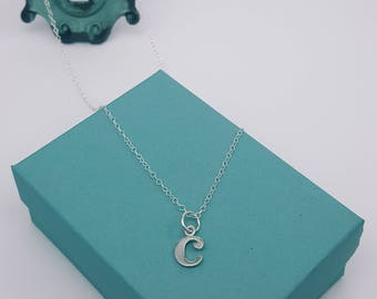 Lowercase Initial - Necklace | Personalized Necklace | Sterling Silver | High-Polished Finish