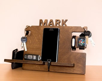 Personalized docking station – mens, boyfriend gift idea, Gift for men