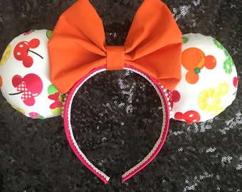 Disney Inspired Summertime Fruit Minnie / Mickey Mouse Ears