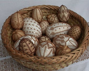 Handmade Easter Egg decorated with wire