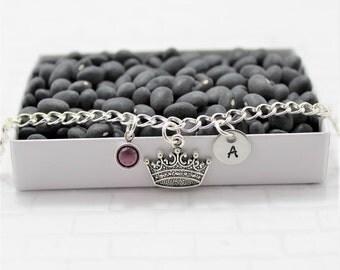 Princess Bracelet - Princess Theme Gift - Little Princess - Crown - Personalized Bracelet