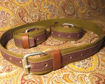Leather Belt Cloth Braided Belt, Handmade