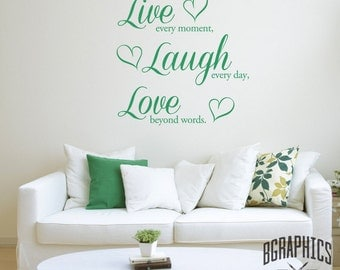 Live, Laugh, Love Vinyl Wall Art Stickers