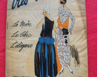 Very Parisian fashion magazine, chic and elegance number 10 of December 1921 J. Dory G. Joumard French version