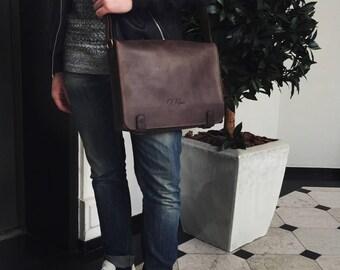 Brown Leather Shoulder Bag, Leather Shoulder Bag, Leather Messenger Bag, Personalized Leather Bag, Brown Leather Bag, Messenger Bag, Bag