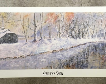 Kentucky Snow Art Print