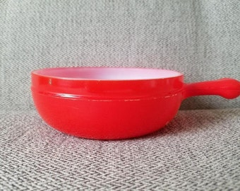 Glassbake Handled Soup Bowl Red