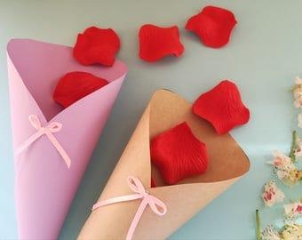 Wedding confetti cones craft cones mariage Petal confetti cones Wedding petal cones Confetti cones wedding Paper cones for confetti