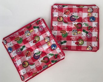 Summertime BBQ Quilted Potholders