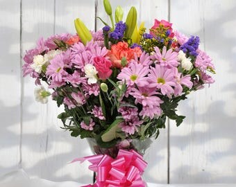 Fresh Flower Bouquet - Value Mixed Arrangement - Flowers Delivered Free Next Day 7 Days a Week - Birthday Present or Anniversary Gift