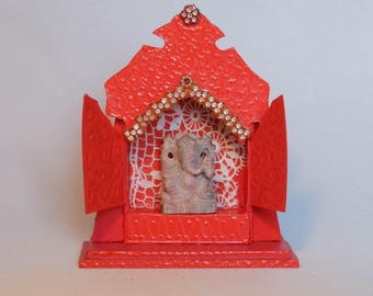 Mini Altar/Lucifer box temple with Ganesha statue