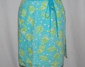 LILLY PULITZER wrap novelty skirt reverseable mini skirt swim cover up Key West turtles fish