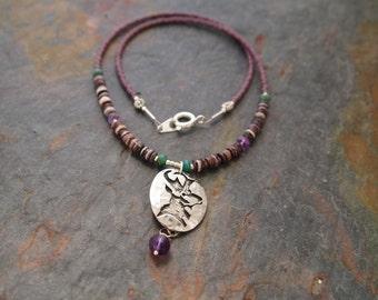 Antelope Beaded Gemstone Necklace