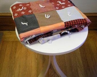 Boho PATCHWORK hippie square festival quilt picnic blanket
