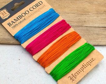 Neon Bamboo Cord, 1mm, 20lb, Neon Craft Cord, Bracelet Cord, Neon Cord -CH29