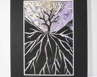 Tree of Life lino print