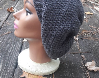 Grey gray slouch beanie hat