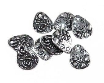 Tierracast Flora Small Teardrop Charm - Silver