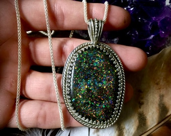 Night Sky- Gorgeous Genuine Opal Necklace