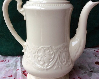 Wedgwood Patrician Coffee Pot with Lid - Made in England